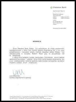 Reference Dresdner Bank